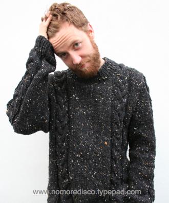 Gwyn posing mercilessly in his jumper www.nomoredisco.typepad.com