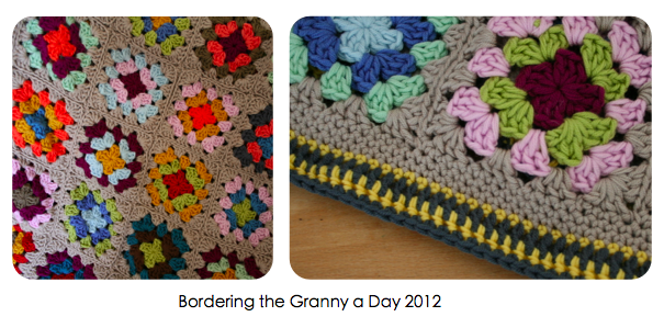 Bordering the Granny a Day 2012 blanket