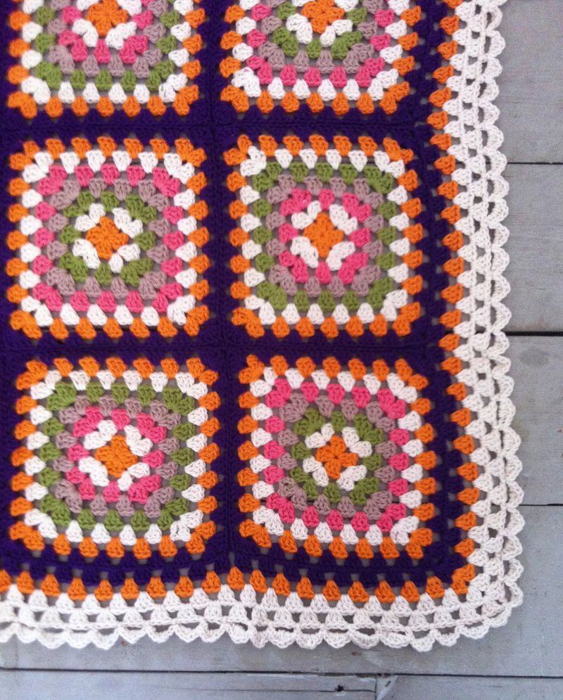 Corner detail of retro blanket