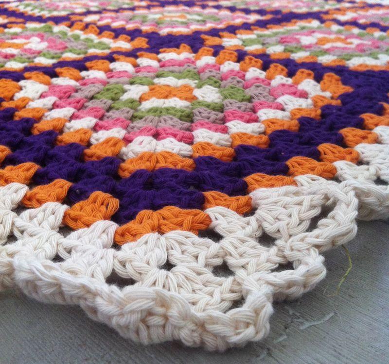 Edging of retro blanket